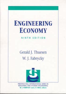 Engineering Economics For Resourcesoriginal engineering economy 9th edition rent 9780130281289 013028128x