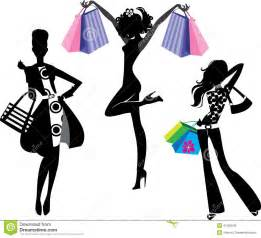 Silhouette of fashion girl with bags stock vector image 41506535