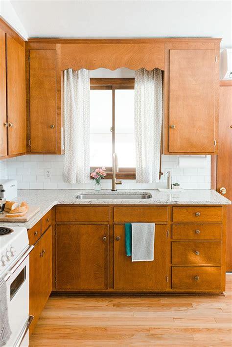 budget friendly mid century kitchen makeover vintage