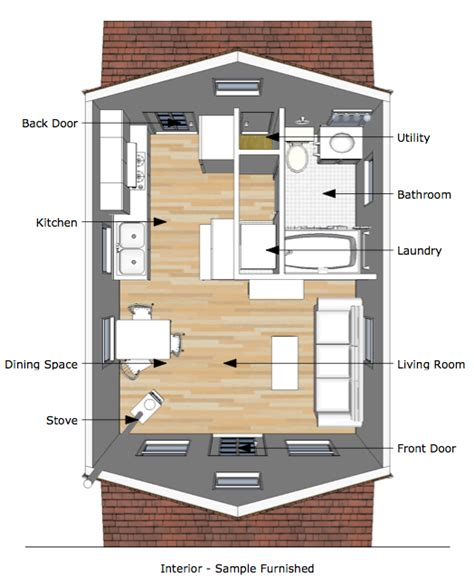 Smallhouseplans by Tumbleweed Tiny House Interior The Pioneer S Cabin 16