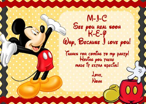 mickey mouse invitation template unavailable listing on etsy