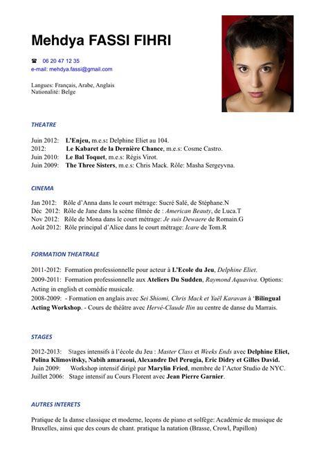 Modèle Cv Franàçais by Exemple Cv Fran 231 Ais Langues Sle Resume