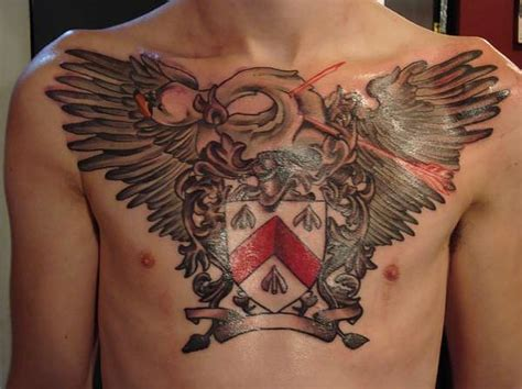 family chest tattoo family crest images designs