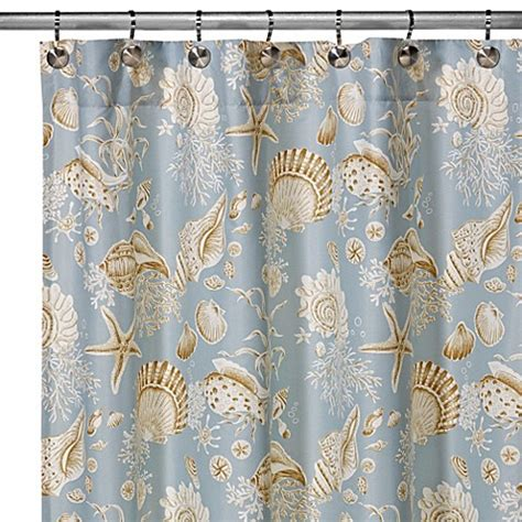 shell shower curtains buy natural shells shower curtain from bed bath beyond