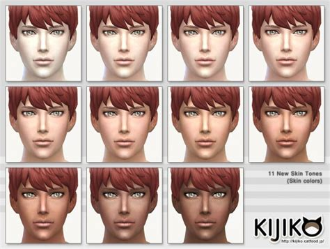 sims 4 cc skin colors kijiko skin tones glow edition and skin texture overhaul