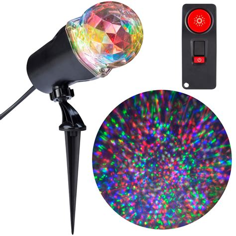 christmas light projector lowes shop gemmy lightshow swirling multicolor led kaleidoscope
