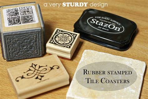 make coasters diy rubber sted tile coasters a very sturdy design