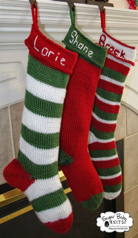 knitting pattern for baby christmas stocking sugar baby knits new personalized knit stocking pattern