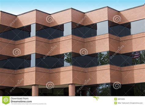 zigzag brick pattern folded red brick building stock image image of glass