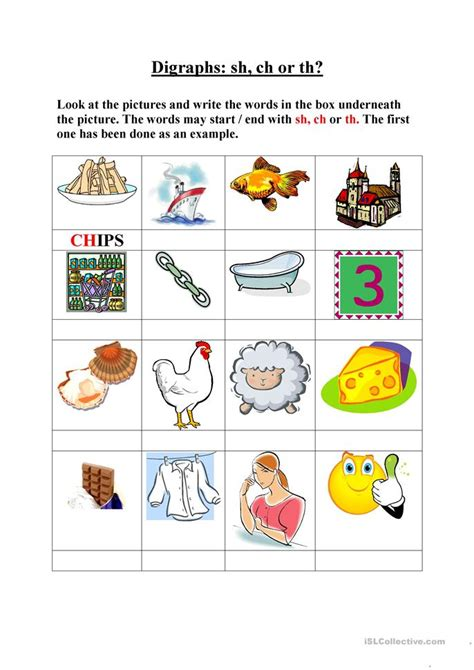 Ch Digraph Worksheets by Digraphs Sh Ch Th Worksheet Free Esl Printable