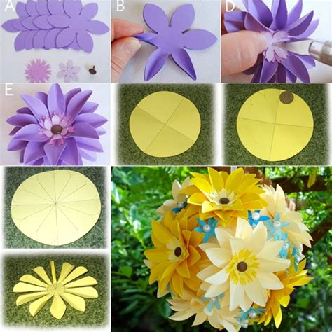 How To Make Large Tissue Paper Flower Balls - diy easy paper flower in 2 ways