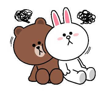 Kaos Line Emoticon Brown 16 brown cony s supercharged line sticker line