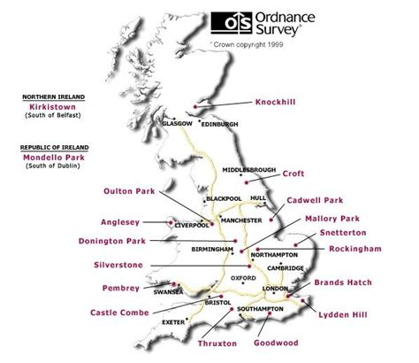 motor racing circuits uk race circuit map racing circuits