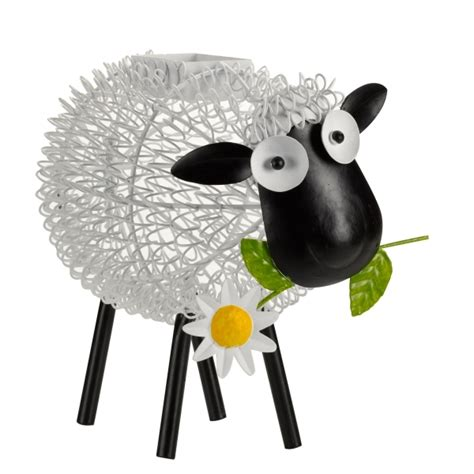 smart garden solar led decorative silhouette dolly sheep