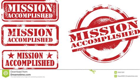 best completed mission accomplished sts stock illustration