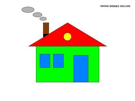 house shape shapes activity sheets house