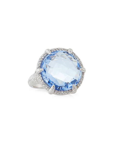 judith ripka white sapphire micro pave quartz eclipse ring
