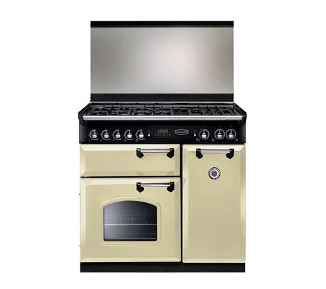 old range buy rangemaster classic 90 dual fuel range cooker cream