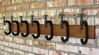 Coat Hook Bench - c clamp coat rack by g b trains eclectic wall hooks by etsy