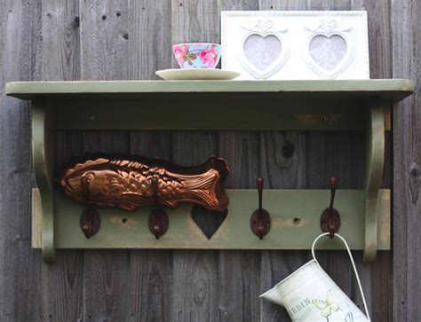 woods vintage home interiors farm house hook shelf by woods vintage home interiors