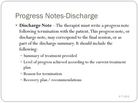 Writing Progress Notes Ppt Video Online Download Counseling Discharge Summary Template