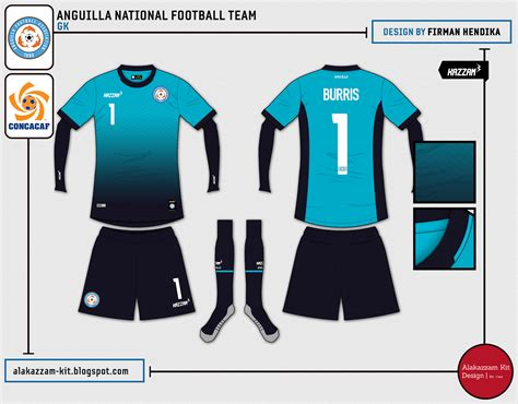 Kaos Gk Blue anguilla national football team home away gk