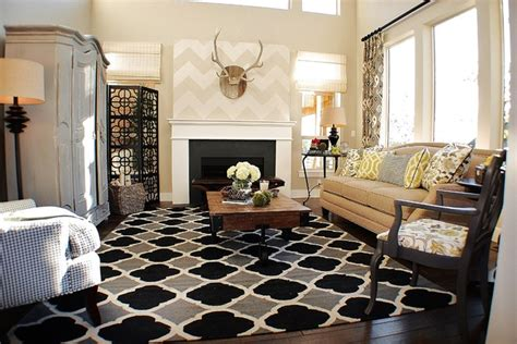 Charming Rectangular Living Room Decorating #6: Eclectic-living-room.jpg
