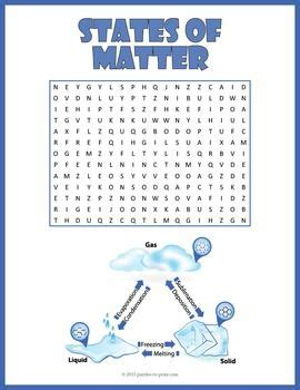 printable word search on matter states of matter word search puzzles and word search on