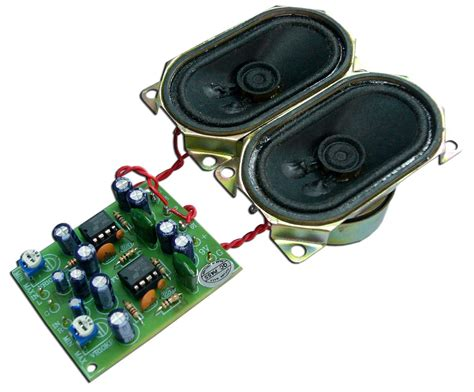 Kit Audio mini audio lifier kit 2w 2w stereo with speakers