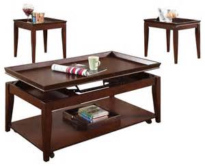 coffee table sets clemens 3 pc occasional table set contemporary coffee