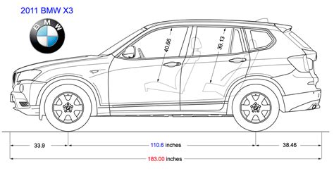 Bmw X3 Length by X3 Dimensions