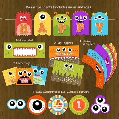 free printable monster birthday decorations monster birthday party invitations gangcraft net
