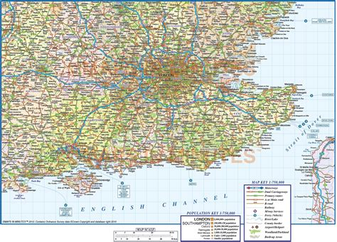 Printable Road Map Of Southern England | road map of southern england