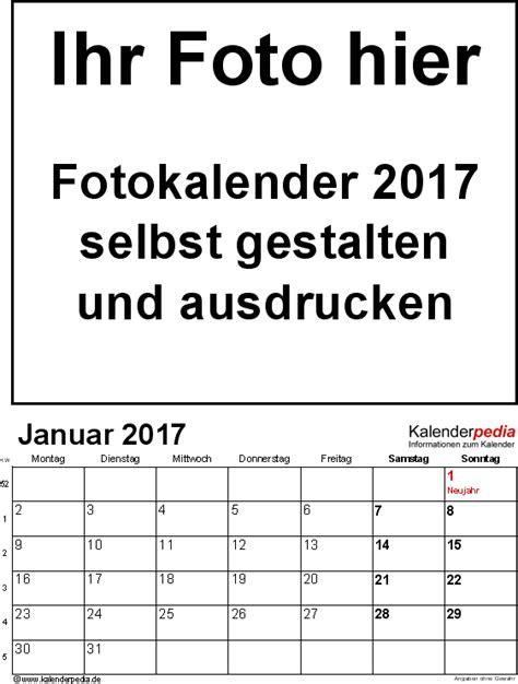 Kalender Basteln Vorlagen Fotokalender 2017 Als Pdf Vorlagen Zum Ausdrucken Kostenlos
