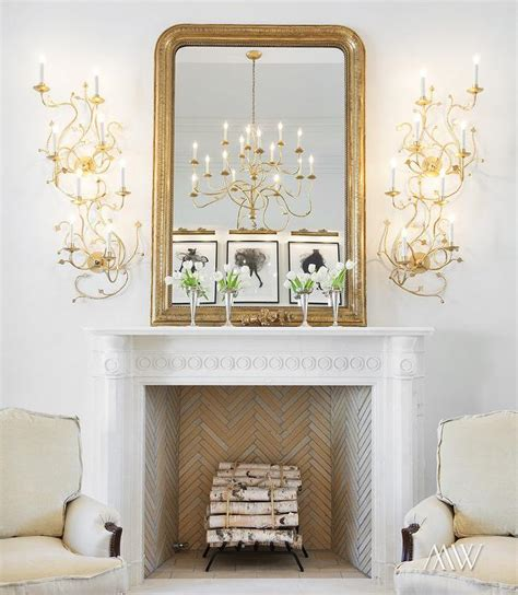 Gold Fireplace by Stacked Gold Fireplace Sconces Living Room