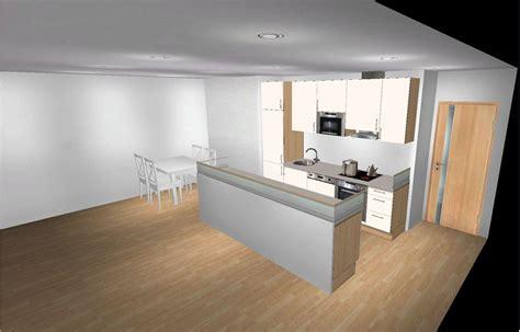 modulküche weiß deckenverkleidung wohnzimmer