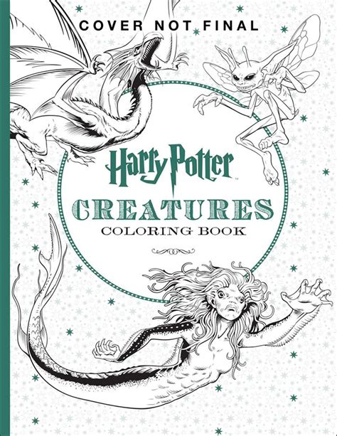 harry potter coloring book magical creatures 56 new ones the coolest coloring books for grown ups part