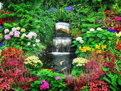 Beautiful Flower Garden Wallpaper Beautiful Garden Flowers Wallpapers Pics Gallery