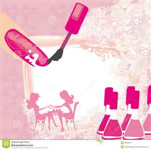 manicure in salon abstract card stock vector