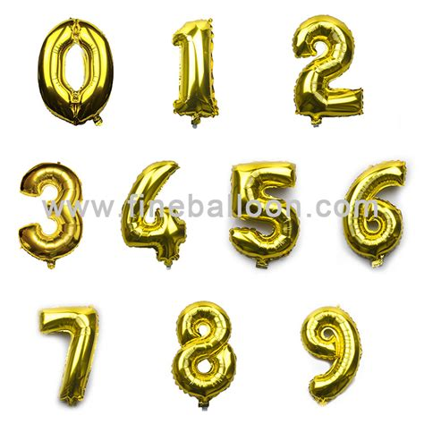 Number Foil Balloon numbers foil balloons
