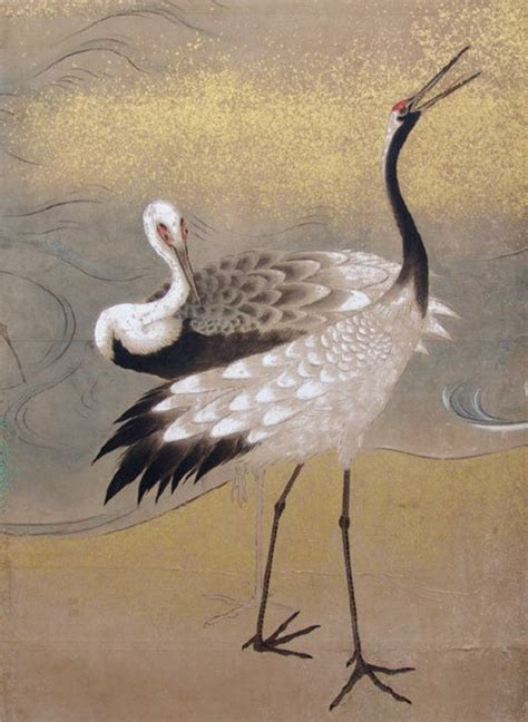 crane painting 17 best images about cranes in japanese paintings