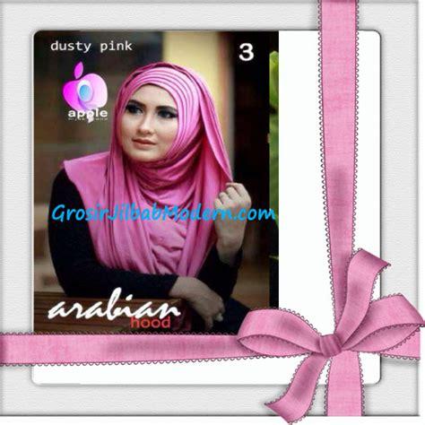 Jilbab Instan Hoodie Arabian jilbab hoodie instan arabian seri 2 by apple brand no 3 dusty pink grosir jilbab modern