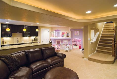 ladine led casa basement with bar and play area entertain in a kid