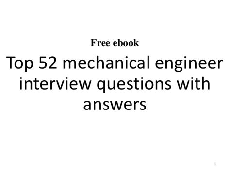 top 10 mechanical engineer questions and answers