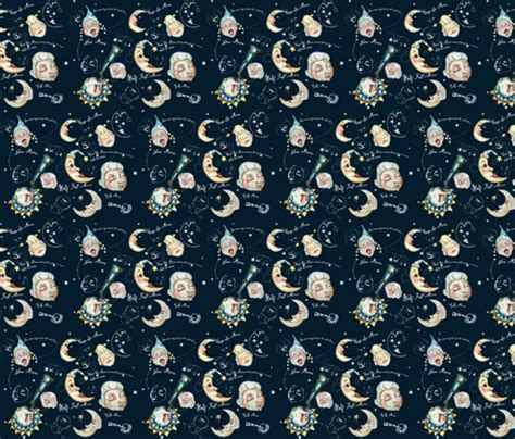 the fabric of your the five cycles of change books phases of the moon fabric edithschmidt spoonflower