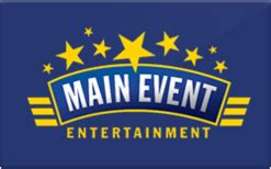 buy main event entertainment gift cards raise - Main Event Gift Card