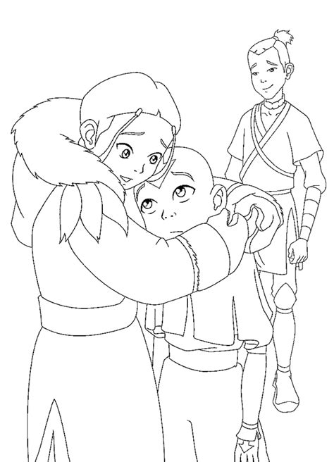 Anime Male Body Outline Sketch Coloring Page Avatar Last Airbender Coloring Pages