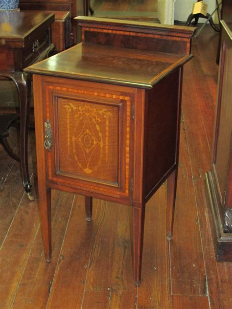 charleston battery bench inlaid mahogany side table or cupboard