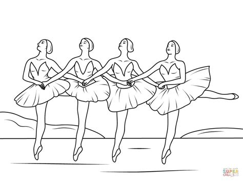 ballerina coloring pages first position coloring pages swan lake ballet coloring colorine