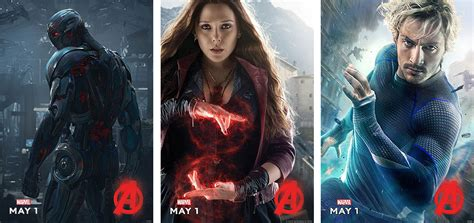 Poster The Age Of Ultron Scarlet Witch Ukuran A3 ultron scarlet witch and quicksilver character posters for age of ultron movienewz